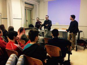 Gli studenti di Roma con il regista Marco Danieli e lo sceneggiatore Antonio Manca